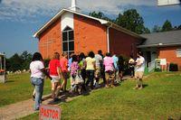 Youth-enter-church